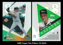 1999 Topps Tek Pattern 23 #25A