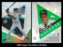 1999 Topps Tek Pattern 26 #25A