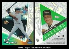 1999 Topps Tek Pattern 27 #25A