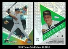 1999 Topps Tek Pattern 29 #25A