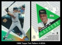 1999 Topps Tek Pattern 4 #25A