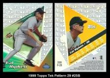 1999 Topps Tek Pattern 29 #25B