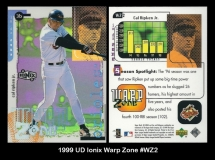 1999 UD Ionix Warp Zone #WX2