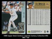 1999 Upper Deck Century Legends Century Collection #55