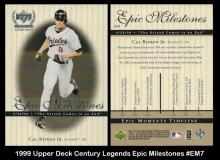 1999 Upper Deck Century Legends Epic Milestones #EM7
