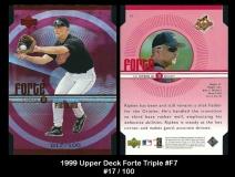 1999 Upper Deck Forte Triple #F7