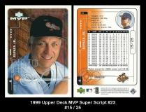 1999 Upper Deck MVP Super Script #23
