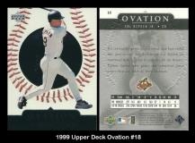 1999 Upper Deck Ovation #18