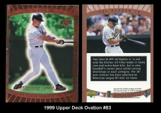 1999 Upper Deck Ovation #83