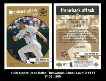 1999 Upper Deck Retro Throwback Attack Level 2 #T11