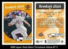 1999 Upper Deck Retro Throwback Attack #T11