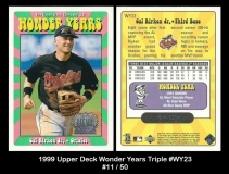 1999 Upper Deck Wonder Years Triple #WY23
