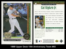 1999 Upper Deck 10th Anniversary Team #X5