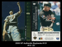 2000 SP Authentic Buybacks #121