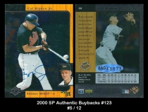 2000 SP Authentic Buybacks #123
