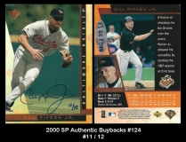 2000 SP Authentic Buybacks #124