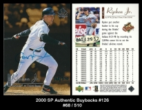 2000 SP Authentic Buybacks #126