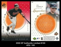 2000 SP Authentic Limited #100