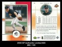 2000 SP Authentic Limited #20