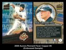 2000 Aurora Pennant Fever Copper #4 Embossed Sample