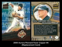 2000 Aurora Pennant Fever Copper #4 Replacement Card