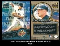 2000 Aurora Pennant Fever Platinum Blue #4