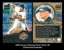 2000 Aurora Pennant Fever Silver #4 Embossed Sample