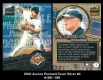 2000 Aurora Pennant Fever Silver #4