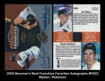 2000 Bowmans Best Franchise Favorites Autographs #FR2C
