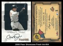 2000 Fleer Showcase Fresh Ink #34