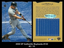 2000 SP Authentic Buybacks #122
