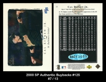 2000 SP Authentic Buybacks #125
