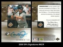 2000 SPx Signatures #XCR