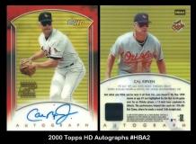 2000 Topps HD Autographs #HBA2