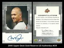 2000 Upper Deck Gold Reserve UD Authentics #CR