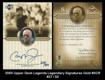 2000 Upper Deck Legends Legendary Signatures Gold #SCR