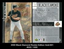 2000 Black Diamond Rookie Edition Gold #21
