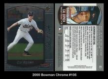 2000 Bowman Chrome #105