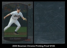 2000 Bowman Chrome Printing Proof #105