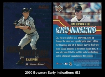 2000 Bowman Early Indiciations #E2