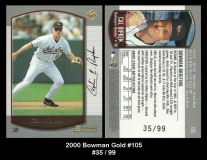 2000 Bowman Gold #105