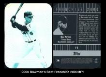 2000 Bowman's Best Franchice 2000 #F1