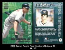 2000 Crown Royale FInal Numbers National #4