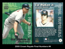 2000 Crown Royale Final Numbers #4
