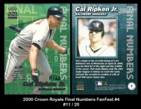 2000 Crown Royale Final Numbers FanFest #4