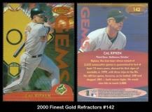 2000 Finest Gold Refractors #142