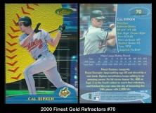 2000 Finest Gold Refractors #70