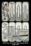 2000 Fleer Club 3000 Memorabilia #CR3