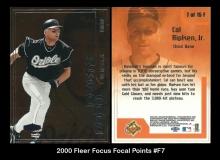 2000 Fleer Focus Focal Points #F7