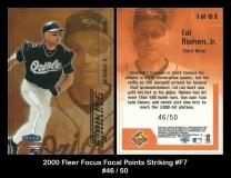 2000 Fleer Focus Focal Points Striking #F7